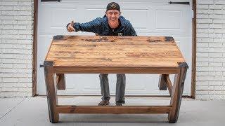 TRASH to TREASURE! Rustic Wood Table Build COMPLETE!
