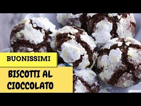 Biscotti al Cioccolato con cuore morbido di Nutella