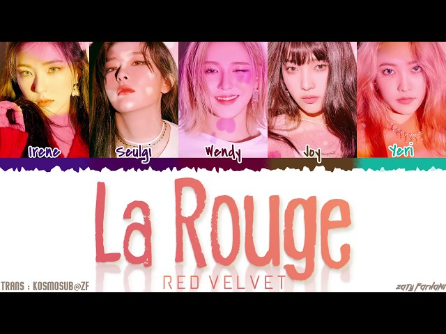 RED VELVET (레드벨벳) - 'LA ROUGE' Lyrics [Color Coded_Han_Rom_Eng]
