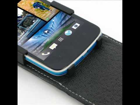 PDair Leather Case for HTC Desire 500 - Flip Top Type (Black)