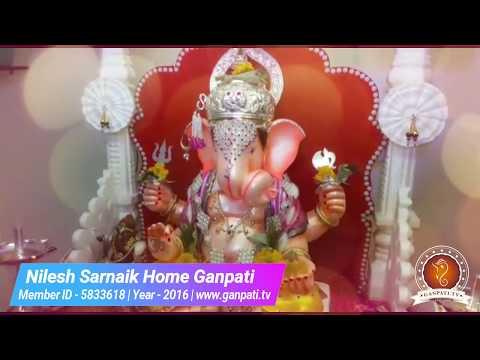 Nilesh Sarnaik Home Ganpati Decoration Video