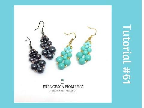 Come fare Orecchini stile barocco con perlas   Tutorial DIY