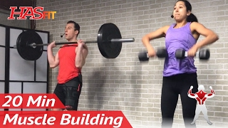 20 Minute Bodybuilding Back Workout to Build Muscle at Home - Muscle Building Back Exercises Routine by HASfit