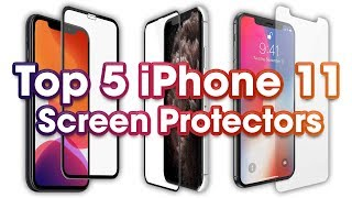 Top 5 iPhone 11 Screen Protectors (3D Curved Tempered Glass & Film)!
