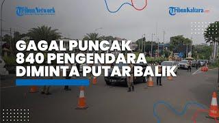 Gagal ke Puncak, 840 Pengendara Roda Empat Diputar Balik Petugas di Simpang Gadog Ciawi Bogor