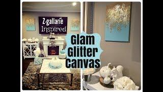 DIY Z GALLARIE INSPIRED GLITTER CANVAS