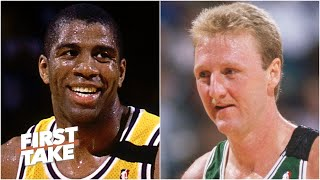 Magic Johnson Vs. Larry Bird: Who Should Be On The NBA Mount Rushmore? | First Take
