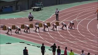 20170617 中国地区高校総体陸上 女子100m決勝