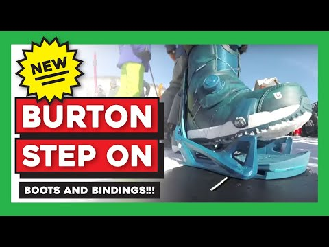 Burton Step On Snowboard Bindings Test Ride / Demo