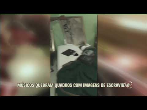 Músicos destroem quadros com imagens de escravidão em hotel de BH