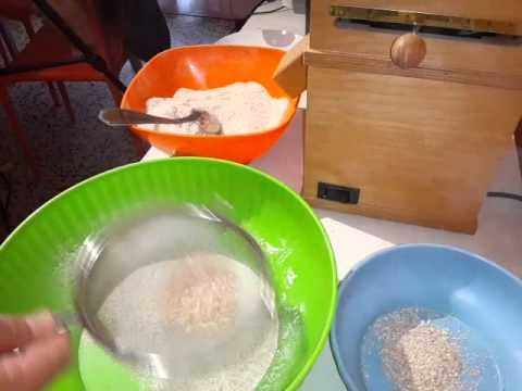 2 tecniche di macinatura del grano tenero con il mulino o macina casalinga