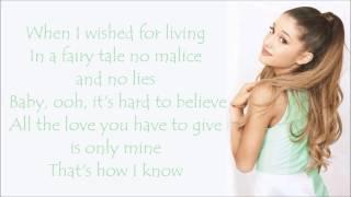 Ariana Grande ~ Only 1 ~ Lyrics