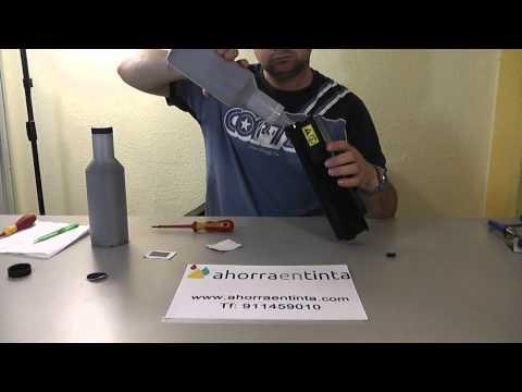 Kyocera Tk340. Cómo recargar cartucho de tóner