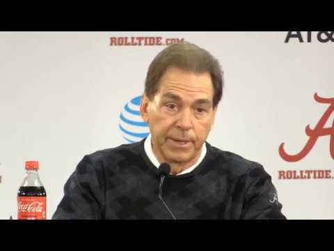 Nick Saban Press Conference Before Auburn