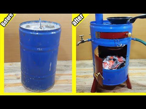 DIY amazing idea with a barrel | عمل أحسن فكرة برميل