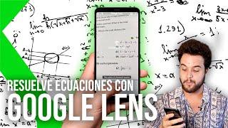Así es Google Lens RESUELVE ECUACIONES MATEMÁTICAS