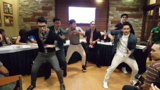 The Baes of Eat Bulaga Dance Performance During The Presscon of Trops
