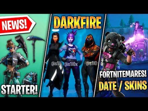FORTNITEMARES Date & Skins, NEW Starter Pack, Darkfire Pack Leaked, Chapter 2 Leaks! (Fortnite News)