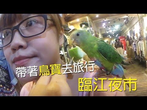 帶鳥寶去旅行│臨江夜市逛街去!雞排好好吃 菠菜崩潰日記