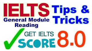 IELTS | General Training Module Reading Test | tips & tricks