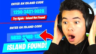 Typing in RANDOM NUMBERS until I find a CREATIVE MAP... (no way)