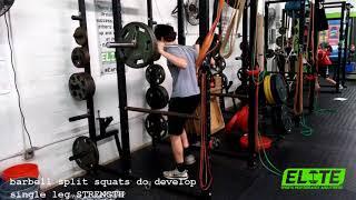BB Split Squats for Athletes