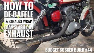 Budget Bobber Build #45   45mm Ebay Baffle Install into Ebay