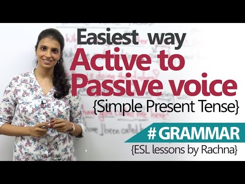 Easiest Way to Convert Active Voice to Passive Voice