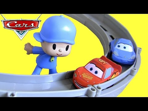 Disney Pixar Cars Race And Chase Motorized Track