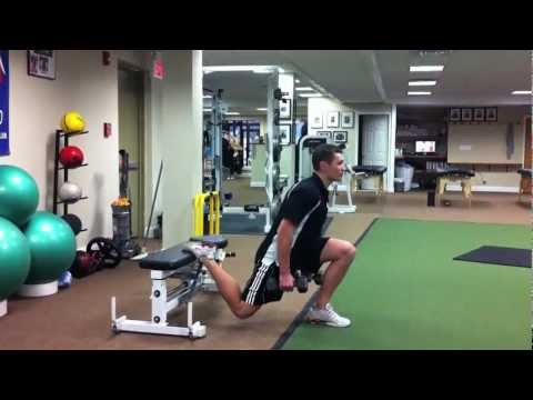 Dumbbell Single Leg Squat
