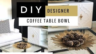 DIY Decorative Bowl Using Dollar Tree Supplies   Easy   Home Decor Accents