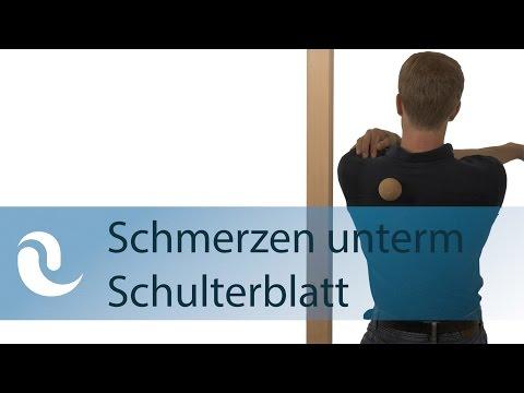 Gute Schüsse und Salbe für Rückenschmerzen