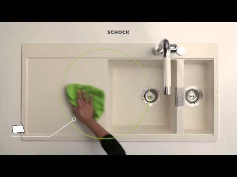 Wie entfernt man Rückstände auf hellen Spülen?