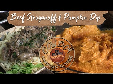 Beef Stroganoff (with Mayonnaise) & Pumpkin Dip w/ Cinnamon/Sugar Chips