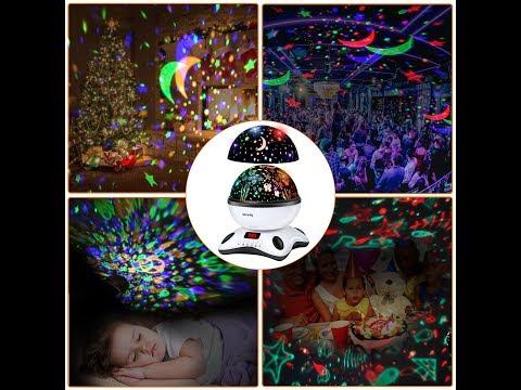 Sternhimmel und Ozean Projektionslampe mit Musik für Kinder und Babys Entspannung einschlafen