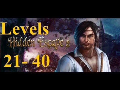Hidden Escape 2 прохождение - 100 Дверей Приключения  -  21 - 40 уровень (21 - 40 levels)