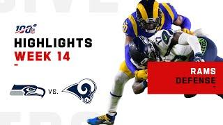Rams Defense Stops Seahawks w/ 5 Sacks & 1 INT! | NFL 2019 Highlights