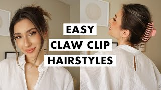 How to Wear a Claw Clip | Easy Hairstyles