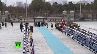 Смотреть онлайн Торжественная встреча Путина в столице Турции