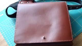 Простая сумка из натуральной кожи своими руками