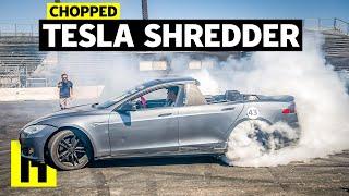 "Tesla Model S ""Pickup"" Vaporizes Tires"