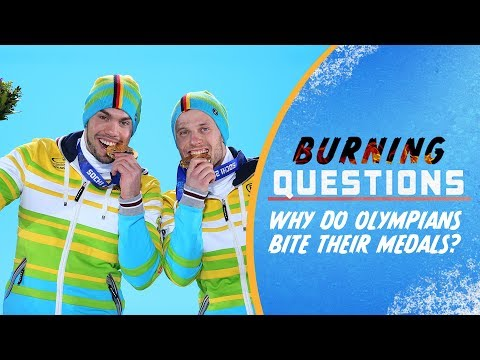 Download Why do Olympians bite their medals? | Burning Questions HD Mp4 3GP Video and MP3
