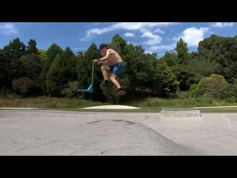 @rileyridescoot at Te Awamutu Skatepark