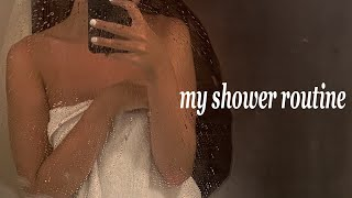 my shower routine   vegan haircare products