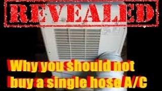 Indoor Portable Air Conditioner Efficiency Improvement: single hose to dual hose conversion