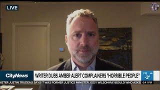 Amber Alert Complainers 'horrible People': Maclean's Editor