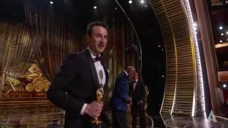 "Justin Hurwitz wins Best Original Score for ""La La Land"""