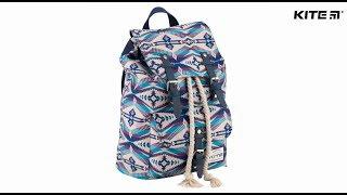 """Рюкзак молодежный Kite Urban K18-863M от компании Интернет-магазин """"Радуга"""" - школьные рюкзаки, канцтовары, творчество - видео"""