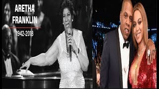 #ArethaFranklinHomegoing Stars & Fans Honor the Queen of Soul+ Jay & Bey give out scholarships