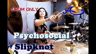 Slipknot - Psychosocial Drum Only (cover by Ami Kim) {42nd-2}